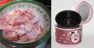 Ayam Mentah dan Kecap ke Dalam Rice Cooker