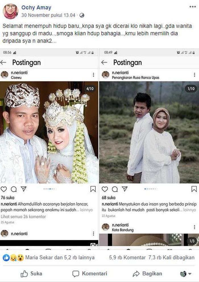 Berita Viral Istri Sah Curhat di FB Kalau Suaminya Nikah Lagi