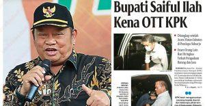 Bupati Sidoarjo H Saiful Ilah Terjaring KPK dalam Kasus OTT