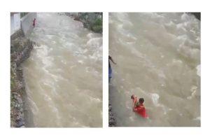 Viral Aksi Heroik Prajurit TNI Selamatkan Balita Terseret Arus Sungai